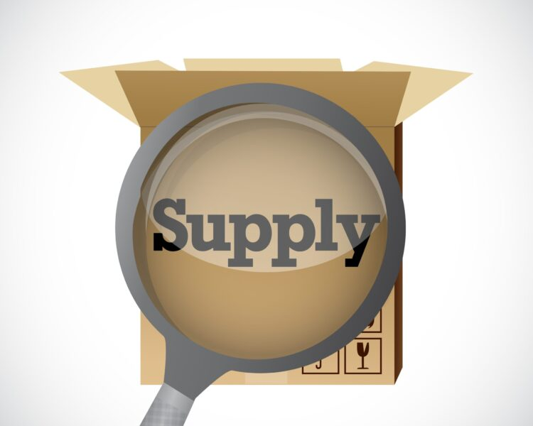 supply box under investigation review. illustration design graphic